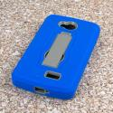 LG Transpyre / Tribute / Optimus F60 - Blue MPERO IMPACT XS - Kickstand Case Angle 3