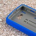 LG Transpyre / Tribute / Optimus F60 - Blue MPERO IMPACT XS - Kickstand Case Angle 5