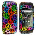 Samsung Sidekick 4G T839 Peace Sign Design Crystal Hard Case Cover Angle 1