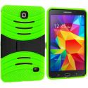 Samsung Galaxy Tab 4 7.0 Neon Green / Black Hybrid Hard/Silicone Case Cover with Stand Angle 2