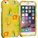 Apple iPhone 6 6S (4.7) Zoo 2D Hard Rubberized Design Case Cover Angle 1