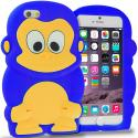 Apple iPhone 6 Blue Monkey Silicone Design Soft Skin Case Cover Angle 1