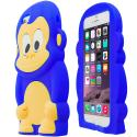 Apple iPhone 6 Blue Monkey Silicone Design Soft Skin Case Cover Angle 2