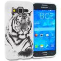 Samsung Galaxy Prevail LTE Core Prime G360P White Tiger TPU Design Soft Rubber Case Cover Angle 1