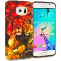 Samsung Galaxy S6 Edge Lion Family TPU Design Soft Rubber Case Cover Angle 1
