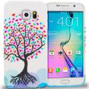 Samsung Galaxy S6 Edge Love Tree on White TPU Design Soft Rubber Case Cover Angle 1