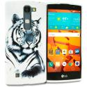 LG Volt 2 LS751 White Tiger TPU Design Soft Rubber Case Cover Angle 1
