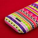 Huawei Prism 2 - Aztec Fiesta MPERO SNAPZ - Rubberized Case Cover Angle 7