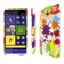 HTC 8XT - White Paint Splatter MPERO SNAPZ - Glossy Case Cover Angle 1