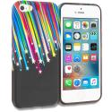 Apple iPhone 5/5S/SE Colorful Shooting Star TPU Design Soft Rubber Case Cover Angle 1