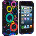 Apple iPhone 5/5S/SE Colorful Bubbles Hard Rubberized Design Case Cover Angle 2