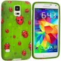Samsung Galaxy S5 Lady Bug TPU Design Soft Case Cover Angle 1
