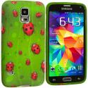 Samsung Galaxy S5 Lady Bug TPU Design Soft Case Cover Angle 2