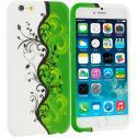 Apple iPhone 6 Plus 6S Plus (5.5) Green / White Swirl TPU Design Soft Rubber Case Cover Angle 1