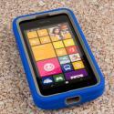 Nokia Lumia 530 - Blue MPERO IMPACT XL - Kickstand Case Cover Angle 2
