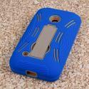 Nokia Lumia 530 - Blue MPERO IMPACT XL - Kickstand Case Cover Angle 3