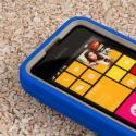 Nokia Lumia 530 - Blue MPERO IMPACT XL - Kickstand Case Cover Angle 5
