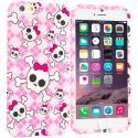 Apple iPhone 6 Plus 6S Plus (5.5) Cute Skulls TPU Design Soft Rubber Case Cover Angle 1