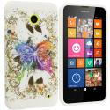 Nokia Lumia 630 635 Colorful Butterfly TPU Design Soft Rubber Case Cover Angle 1