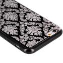 Apple iPhone 6 Plus Black TPU Damask Designer Luxury Rubber Skin Case Cover Angle 2