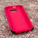 Samsung Galaxy S6 - Hot Pink MPERO IMPACT SR - Kickstand Case Cover Angle 2