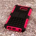 Samsung Galaxy S6 - Hot Pink MPERO IMPACT SR - Kickstand Case Cover Angle 3
