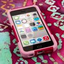 Apple iPhone 5C - Hot Pink/ Pink MPERO IMPACT X - Kickstand Case Cover Angle 2