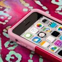 Apple iPhone 5C - Hot Pink/ Pink MPERO IMPACT X - Kickstand Case Cover Angle 5