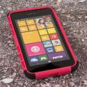 Nokia Lumia 530 - Hot Pink MPERO IMPACT SR - Kickstand Case Cover Angle 2