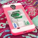 Samsung Galaxy S4 - Hot Pink / Mint MPERO Fusion Fit - Protective Case Angle 3