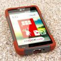 LG Optimus Exceed 2 - Sandstone MPERO IMPACT X - Kickstand Case Cover Angle 2