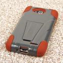 LG Optimus Exceed 2 - Sandstone MPERO IMPACT X - Kickstand Case Cover Angle 3