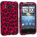 HTC Inspire 4G Hot Pink Leopard Hard Rubberized Design Case Cover Angle 1