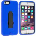 Apple iPhone 6 Plus 6S Plus (5.5) Blue / Black Hybrid Heavy Duty Hard Soft Case Cover with Kickstand Angle 2