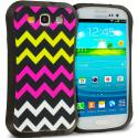 Samsung Galaxy S3 Hot Pink Wave Hybrid TPU Hard Soft Shockproof Drop Proof Case Cover Angle 1