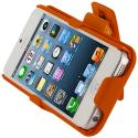 Apple iPhone 5/5S/SE Orange Hard Rubberized Belt Clip Holster Case Cover Angle 9