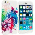 Apple iPhone 6 6S (4.7) Butterfly Colorful TPU Design Soft Case Cover Angle 1