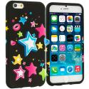 Apple iPhone 6 Plus 6S Plus (5.5) Colorful Shooting Star TPU Design Soft Rubber Case Cover Angle 1