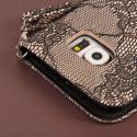 Samsung Galaxy S6 - Black Lace MPERO FLEX FLIP Wallet Case Cover Angle 7
