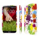 LG G2 - White Paint Splatter MPERO SNAPZ - Glossy Case Cover Angle 1