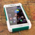 Motorola DROID RAZR MAXX HD XT926 - Teal Green MPERO IMPACT X - Stand Case Angle 2