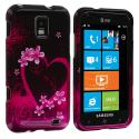 Samsung Focus S i937 Purple Love Design Crystal Hard Case Cover Angle 1