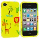 Apple iPhone 4 / 4S Zoo Design Crystal Hard Case Cover Angle 1