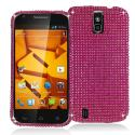 ZTE Force N9100 Hot Pink Bling Rhinestone Case Cover Angle 1