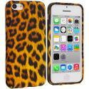 Apple iPhone 5C Leopard Print TPU Design Soft Case Cover Angle 1