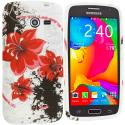 Samsung Galaxy Avant G386 Red Flower TPU Design Soft Rubber Case Cover Angle 1
