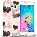 Samsung Galaxy S6 Edge Love desert on Sliver TPU Design Soft Rubber Case Cover Angle 1