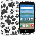 LG Spree Optimus Zone 3 VS425 K4 Dog Paw TPU Design Soft Rubber Case Cover Angle 1