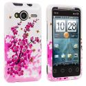 HTC EVO Shift 4G Spring Flower Design Crystal Hard Case Cover Angle 1