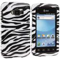Samsung Rugby Smart i847 Black / White Zebra Design Crystal Hard Case Cover Angle 1